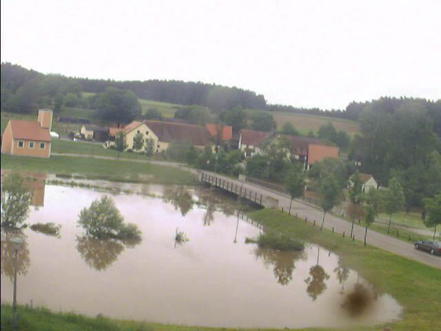 Bechhofen bei Neuendettelsau 3.6.2013 um 7:01 Uhr Hoher Pegel