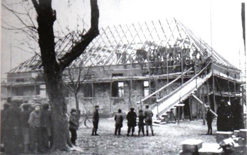 a Turnhalle 1928 Richtfest