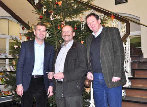 a vom links Klaus Waldera, Hans Kugler und Uwe Reißmann